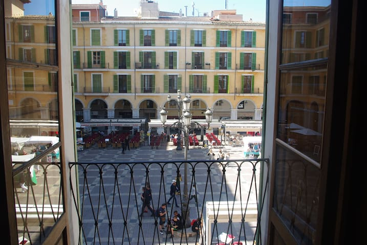 In Plaza Mayor, old town Palma.  Monthly rentals!