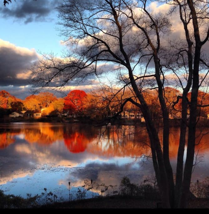 Visit us in the Fall, the change of seasons is one of the many highlights of the Lake House