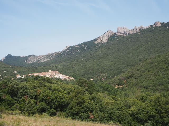 Duilhac, nestling under the cathar fortress of Peyrepertuse.