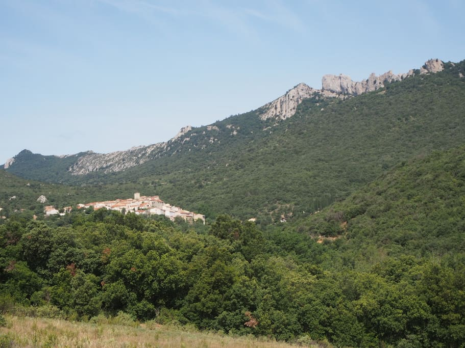 Duilhac, nestling under the cathar fortress of Peyrepertuse.
