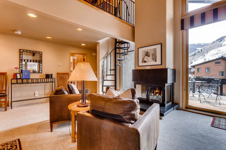 Luxury Penthouse in Heart of Vail Village w A/C & Stunning Views | Creekside