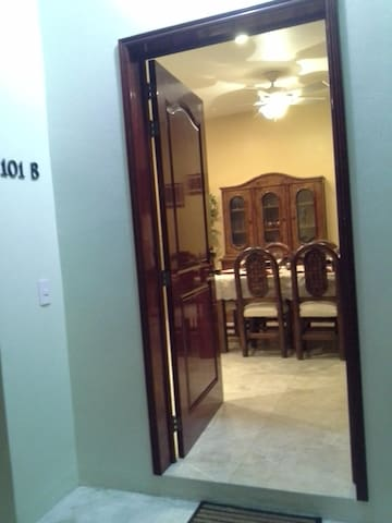 Main Door w Dining view