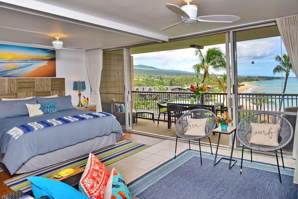 Cool trade winds! Also comes with 3 fans and 2 A/C units to keep you cool and comfortable during your stay.