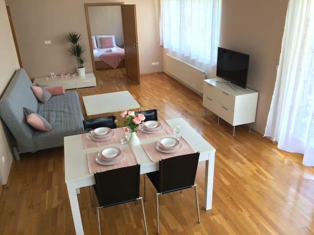 New, comfy apartment near city centre & airport