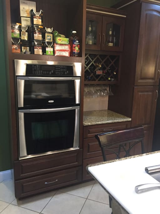 Shared Kitchen wall oven & microwave
