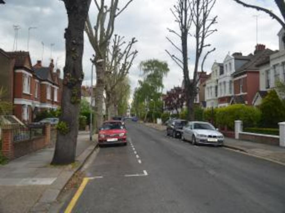 The Apartment is situated in a lovely Tree lined road.