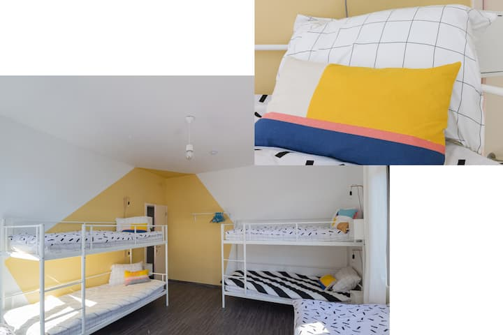 BED in FUNKY COMFY 6-bed FEMALE DORM – bed 1