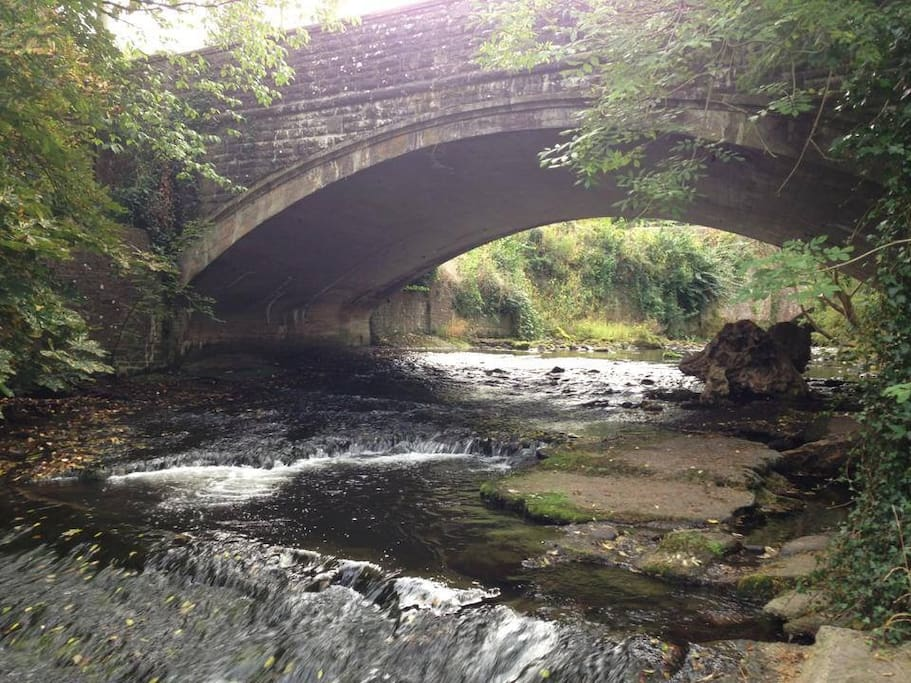 Caerfanell river at the doorstep