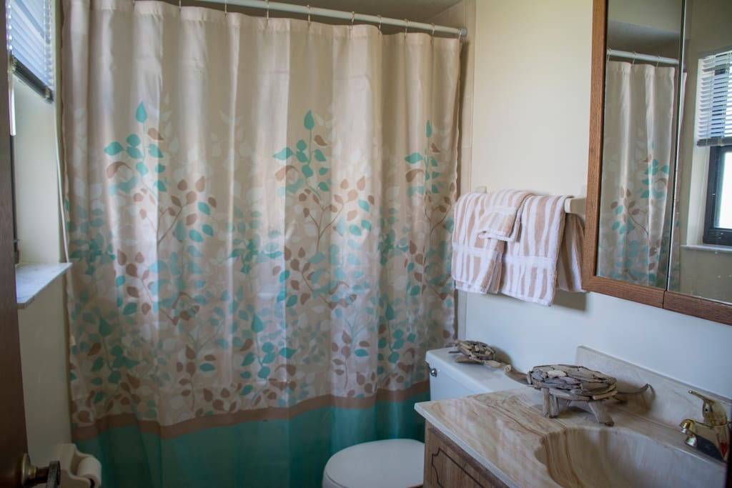 Your Private Bathroom. Right next to your bedroom and on your side of the house. Clean bathtub with shower, and lots of hot water.