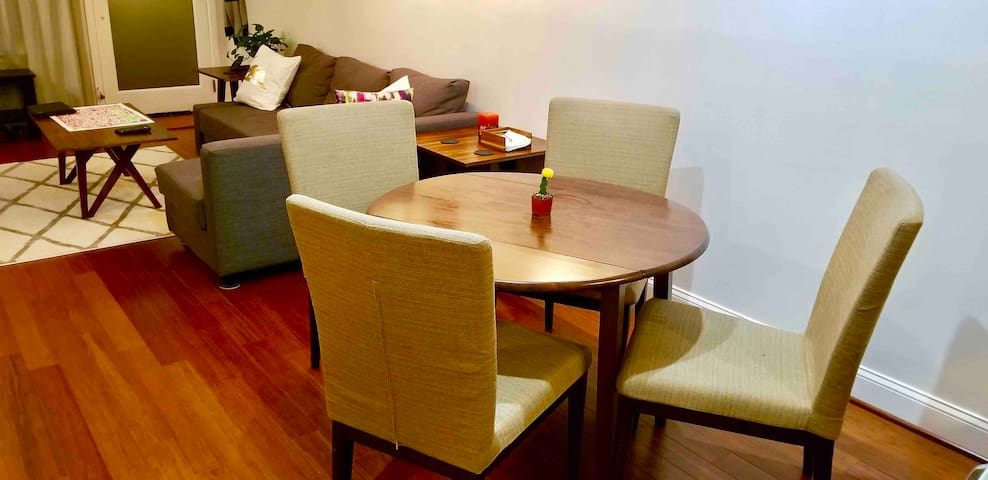 Four person dining room table for eating, working, or playing board games!