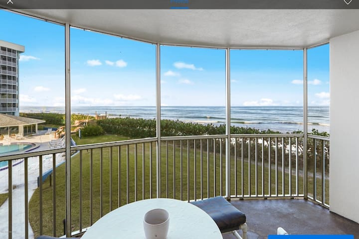 Oceanfront 2BR beach Condo with Private Balcony.