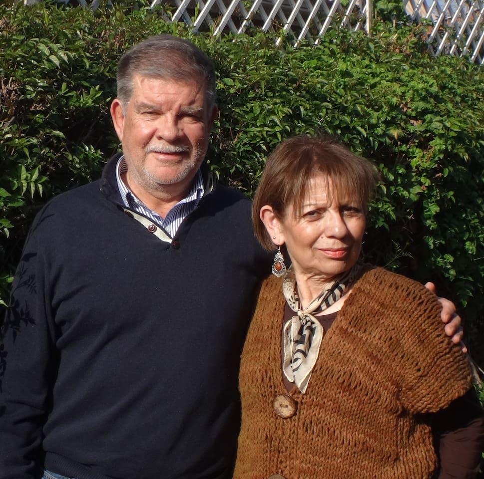 Sus anfitriones : Anita y Mario