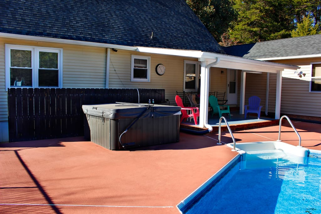 The hot tub is waiting for you!