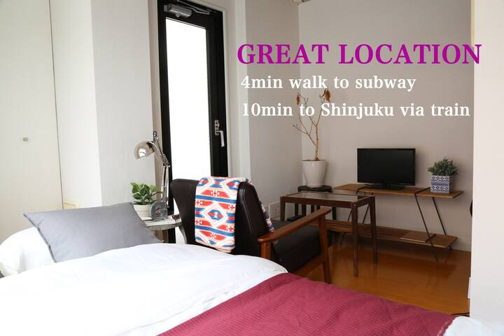 Comfort&Great Access Shinjuku sta/4min to subway - Shinjuku - Apartemen