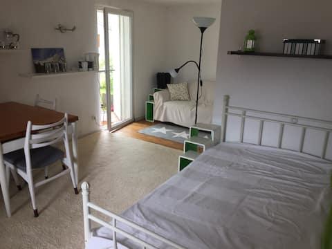 バスルームと独立したエントランスを備えた実用的なアパート