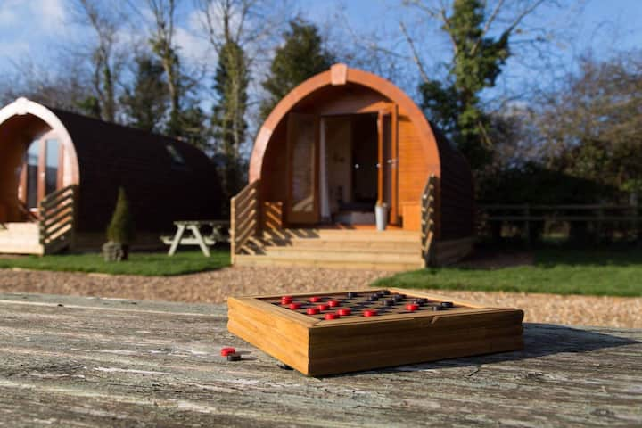 Squirrel Drey Glamping Pod at The Norman Knight