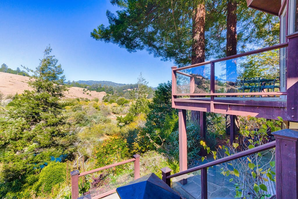 Two levels of outdoor living space both feature unbeatable views.