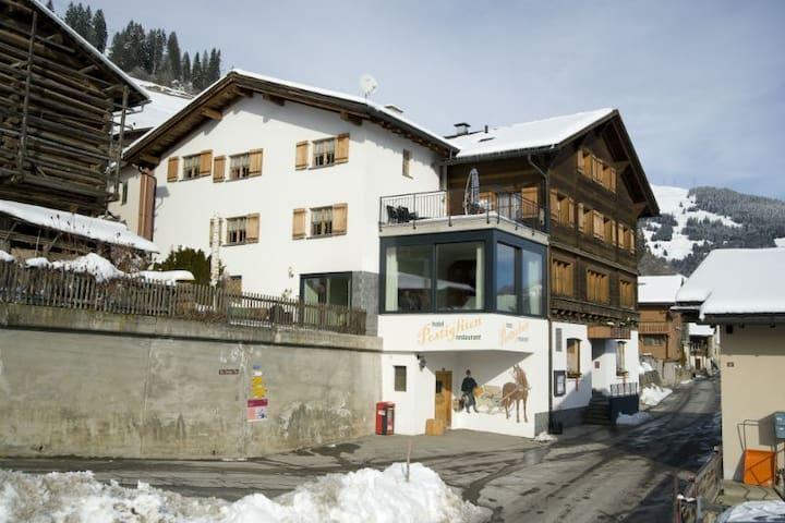 Hotel Postigliun, (Andiast), 59001B-FK, Kopie von Double room with shower/toilet, large
