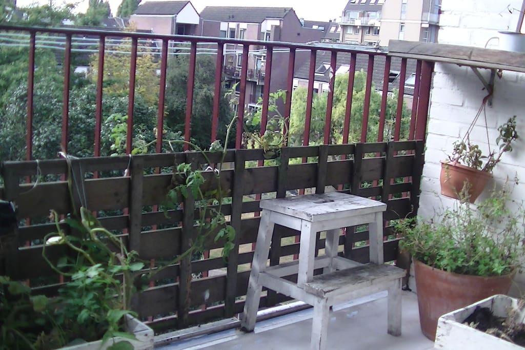 Balkon op het zuiden