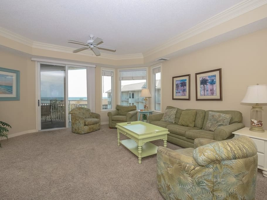 Ocean Views from Living Room at 2502 Sea Crest