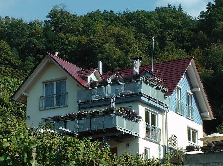 5 Sterne-Wohnung Haus Bergle inmitten der Reben