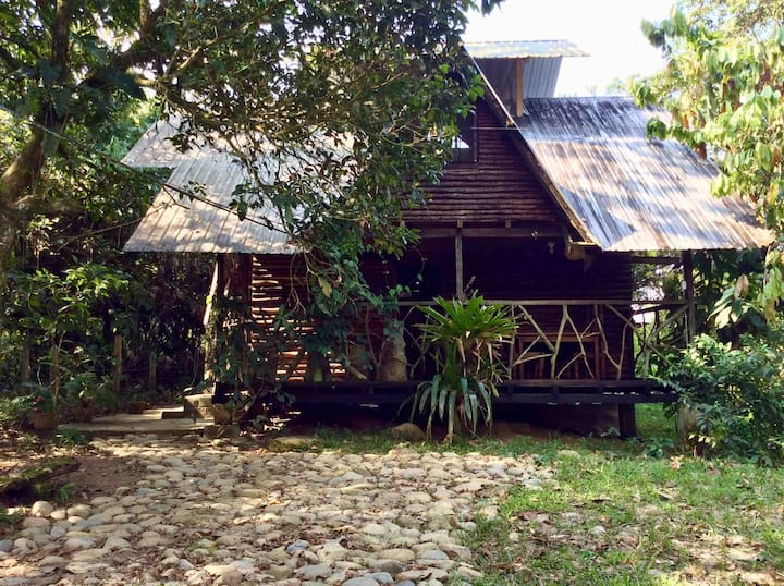Rustic cabin near the river and Tena town.
