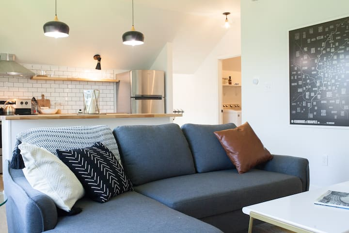 Eco-Friendly Downtown Indy Carriage House