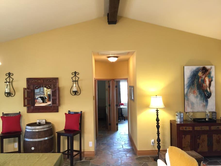 Great room toward bedrooms.