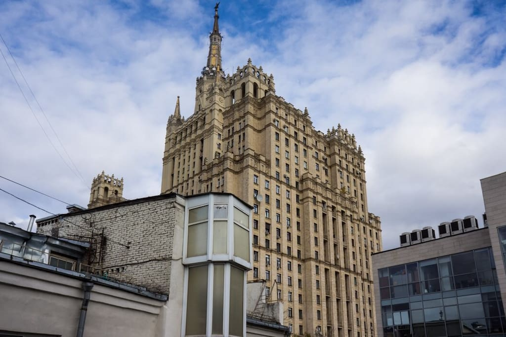 View from your room onto one of the Stalin's skyscrapers, so-called 'Vysotkas'