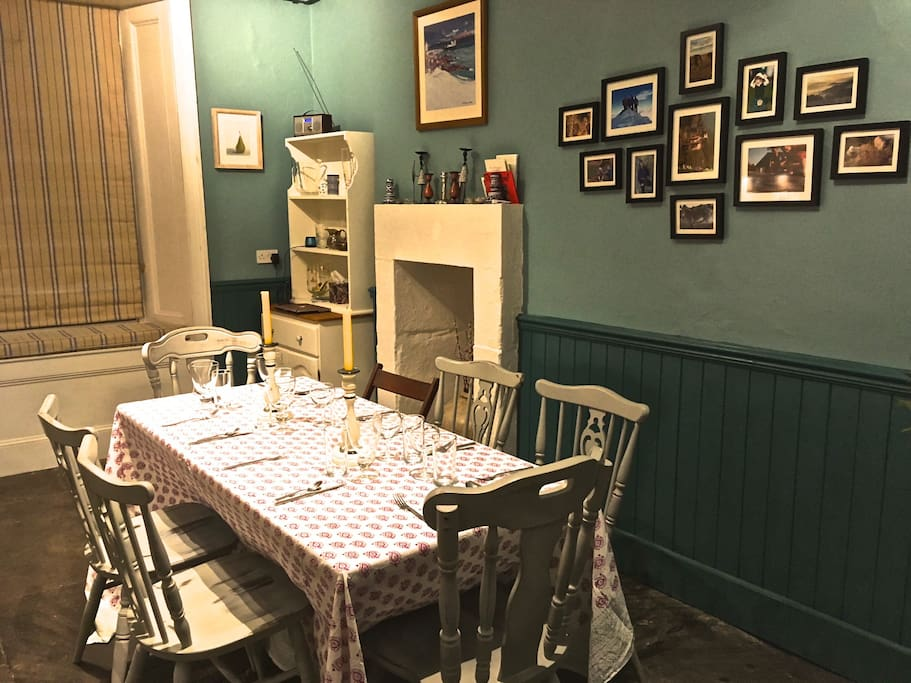 Kitchen ready for cosy night in