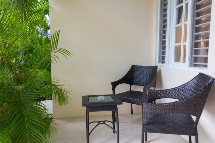 Hand woven patio furniture