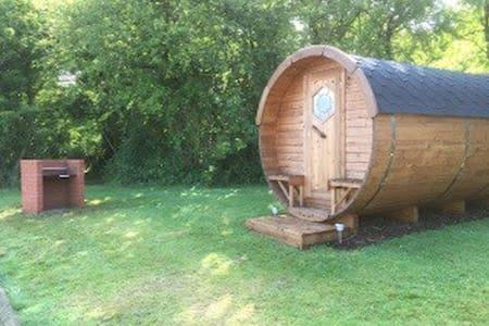 Barrel style camping pod - Ashill