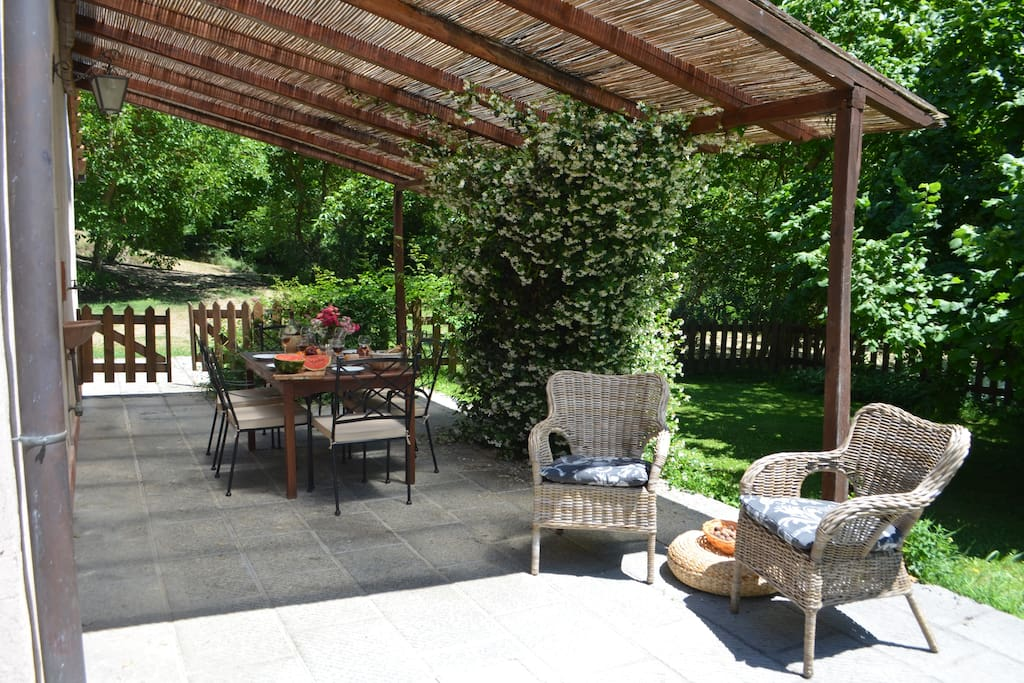 Veranda from the private garden