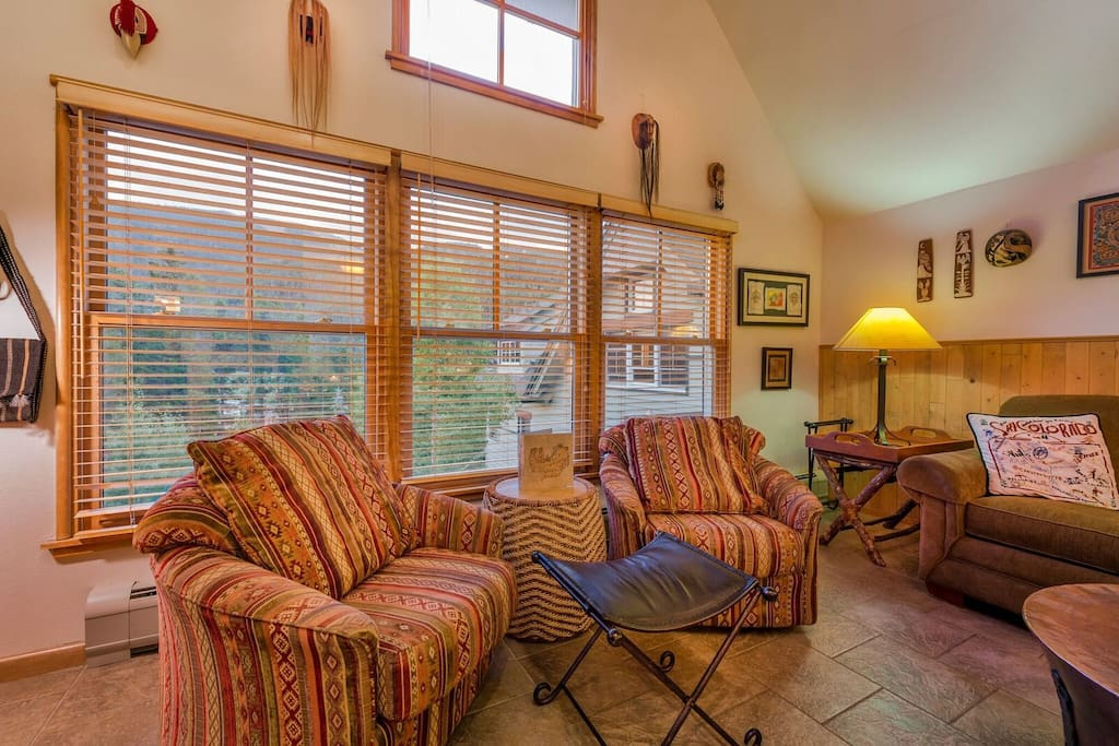Enjoy the Colorado sunshine and breeze from the large windows in the living area