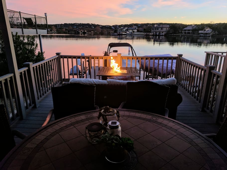 Enjoy a cool evening on our main deck with beautiful view