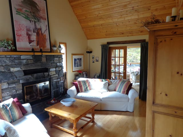 Comforts of Home in the rustic elegance of our Beautiful Living Room