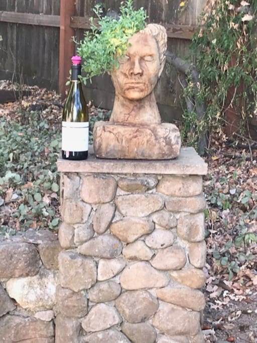 A head for plants and he loves wine :)