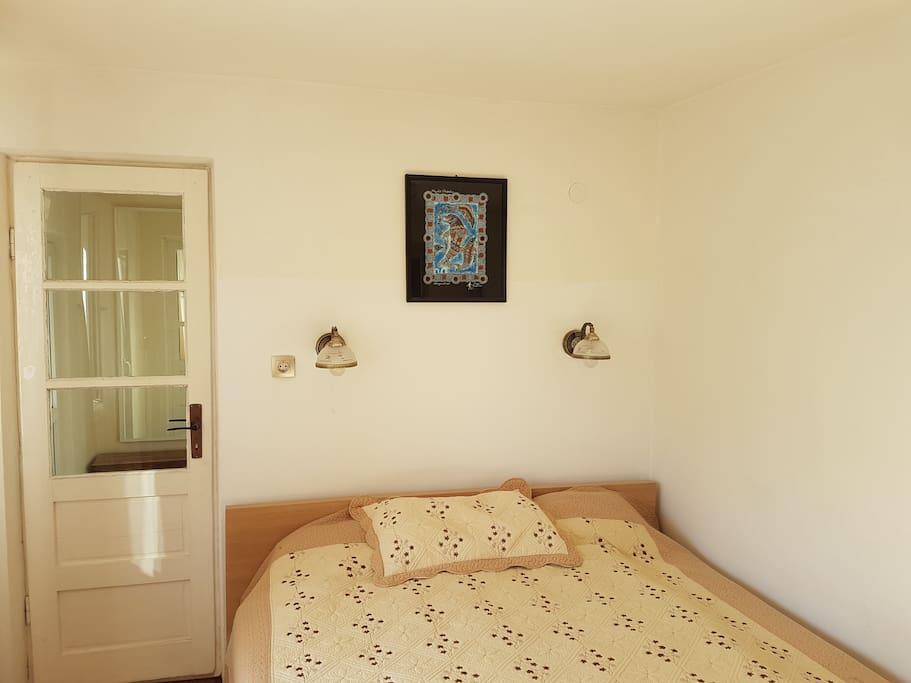 Comfy, large bed. 2 quality Ikea matresses.