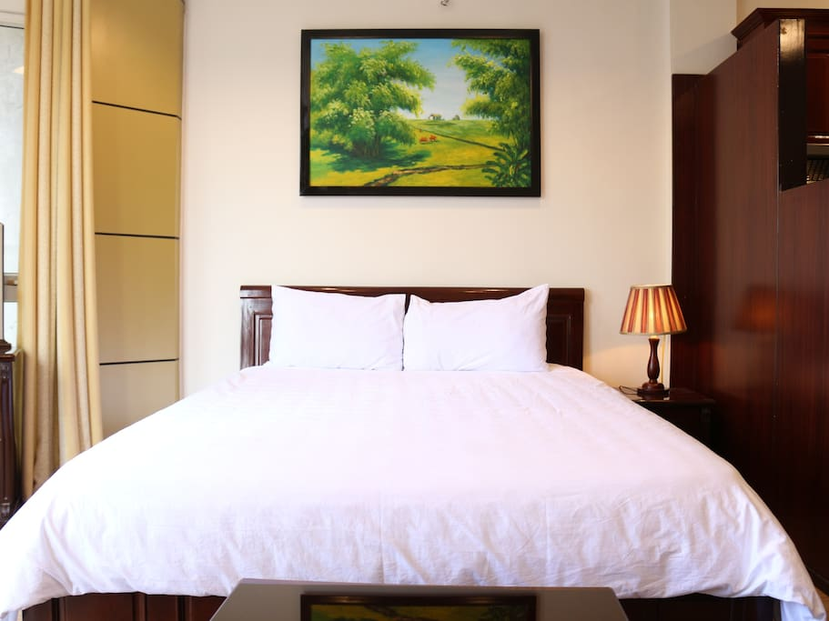 A802 city view studio with private kitchen appart 39 h tels for Appart hotel hanoi