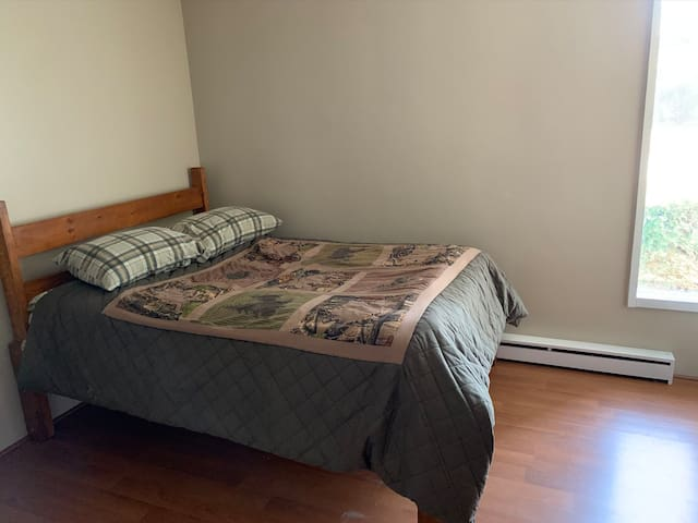 Two bedrooms with private half bath