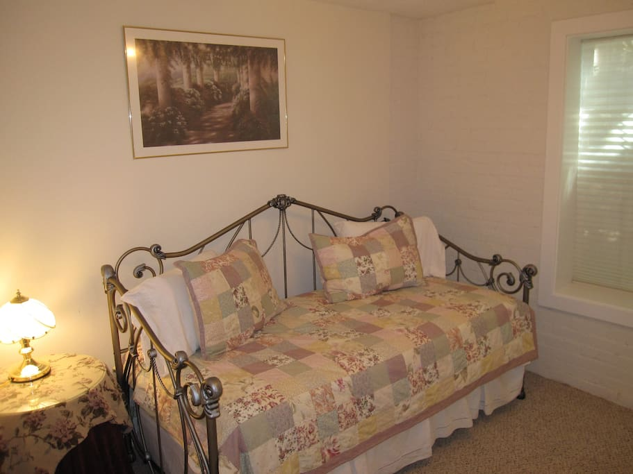 One of six bedrooms available. Each room accommodates two adults. Trundle bed pulls out from underneath to accommodate a second adult