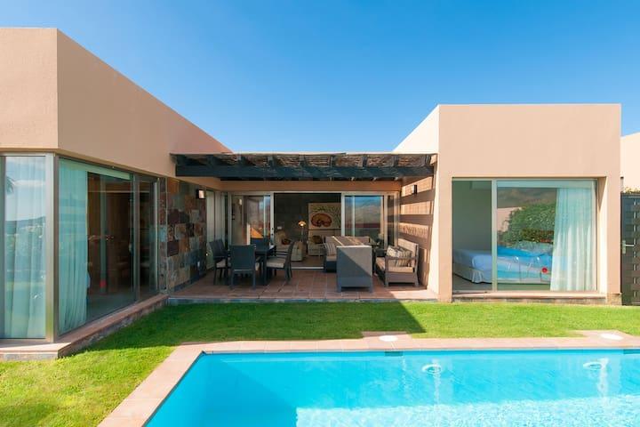 Sleek modern villa with private pool
