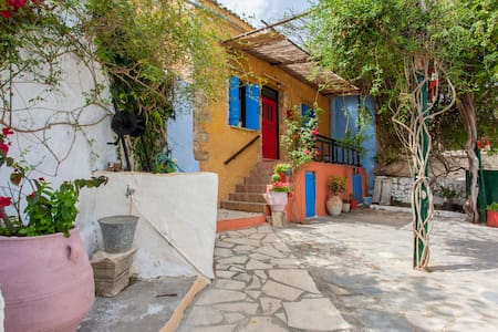 Wide-View Colorful Stone House! - Chania