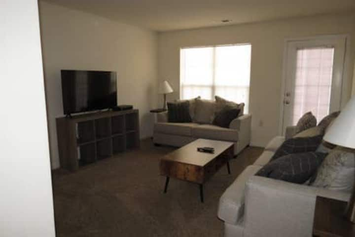 entire 2 bed 2 bath first floor apartment.