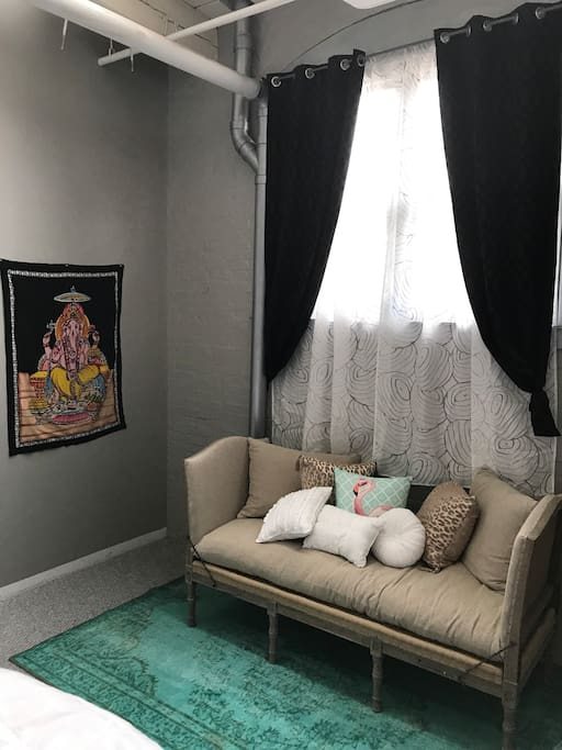 Lounge in large bedroom