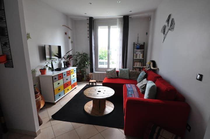 Maison familiale jardin proche Paris