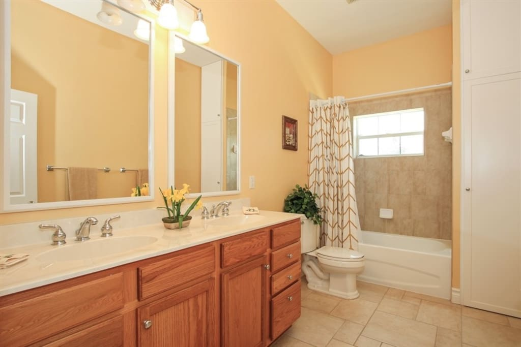 1 of 2 Guest Bathrooms on the 2nd Floor