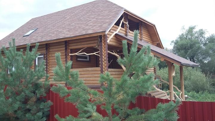 Шикарный дом из экологически чистого бревна