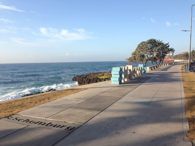 Caribbean ocean view Apart Malecon Santo Domingo.