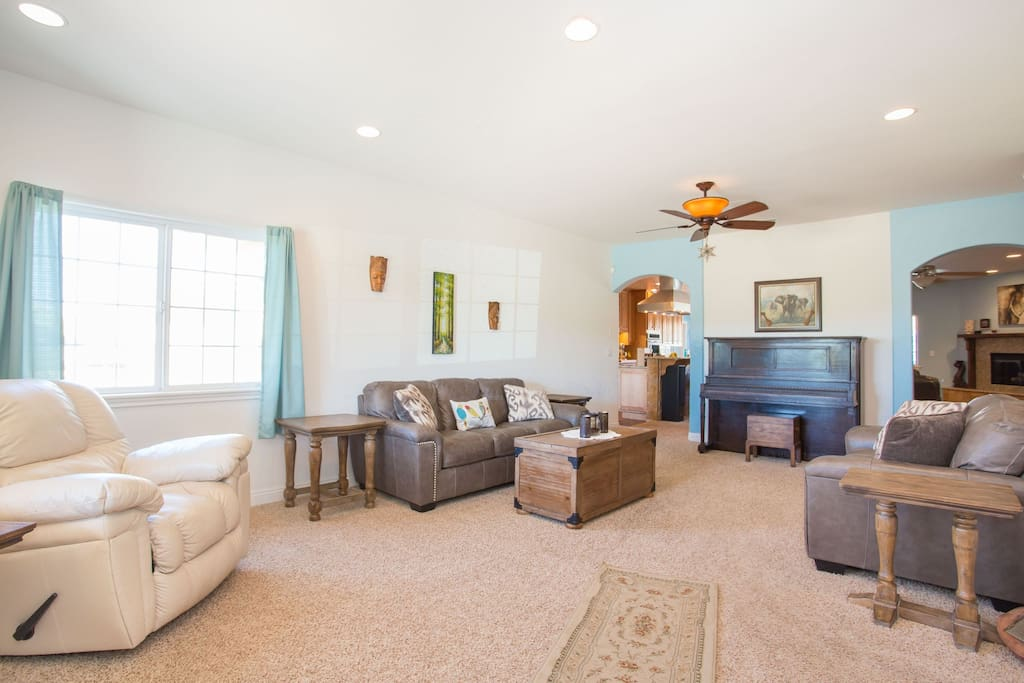 Entertain your family and friends in this spacious living room.